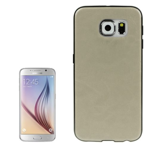 Crazy Horse Texture PU Leather Coated TPU Protective Case for Samsung Galaxy S6 (Beige)