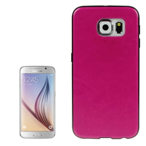 Crazy Horse Texture PU Leather Coated TPU Protective Case for Samsung Galaxy S6 (Rose)