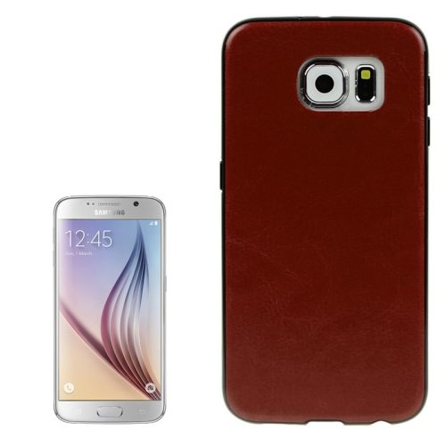 Crazy Horse Texture PU Leather Coated TPU Protective Case for Samsung Galaxy S6 (Brown)
