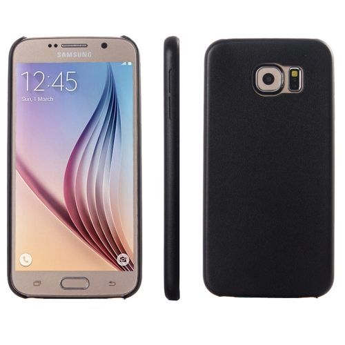Ultrathin Protective Leather Back Case Cover for Samsung Galaxy S6 (Black)