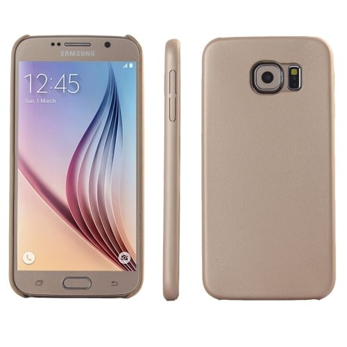 Ultrathin Protective Leather Back Case Cover for Samsung Galaxy S6 (Gold)