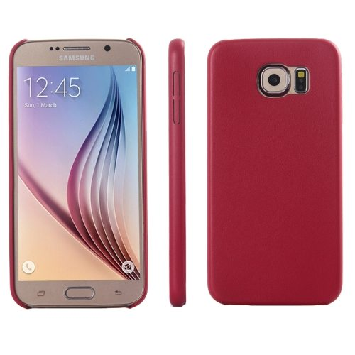 Ultrathin Protective Leather Back Case Cover for Samsung Galaxy S6 (Red)