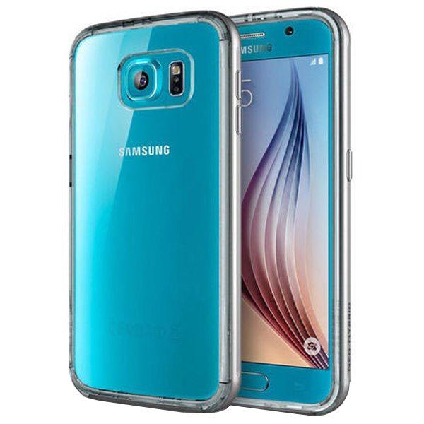 Hybrid Metal Bumper TPU Case for Samsung Galaxy S6 (Blue)