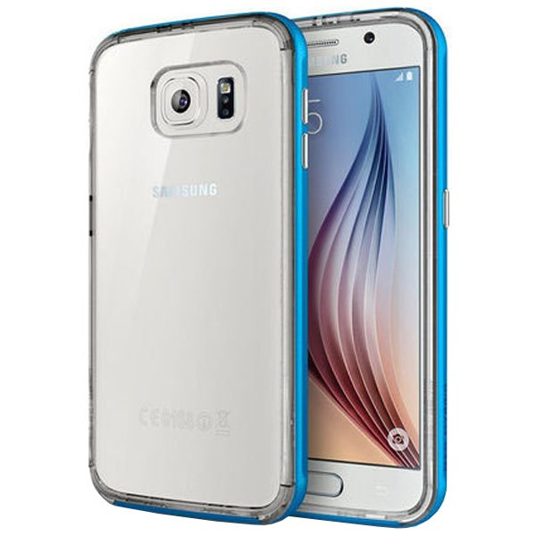 Hybrid Metal Bumper TPU Case for Samsung Galaxy S6 (White)