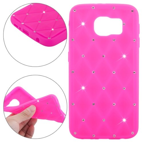 Bling Bling Starry Pattern Silicone Back Case for Samsung Galaxy S6 (Rose)