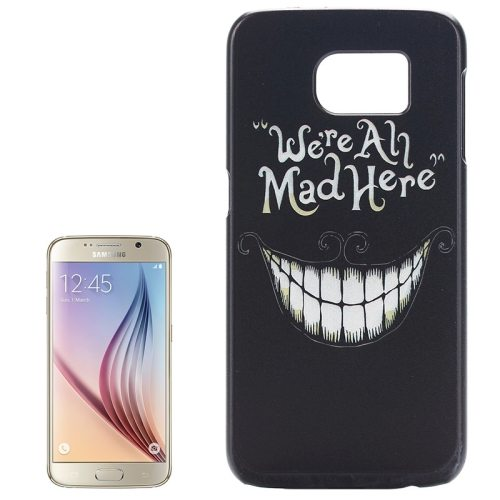 PC Ultra Slim Hard Back Case Protective Cover for Samsung Galaxy S6 (Smiling Teeth)