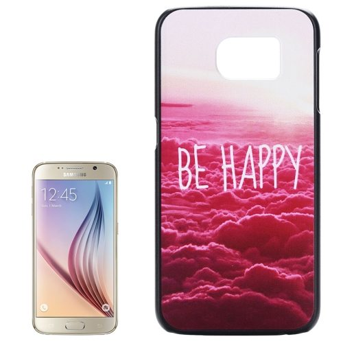 PC Ultra Slim Hard Back Case Protective Cover for Samsung Galaxy S6 (Be Happy)