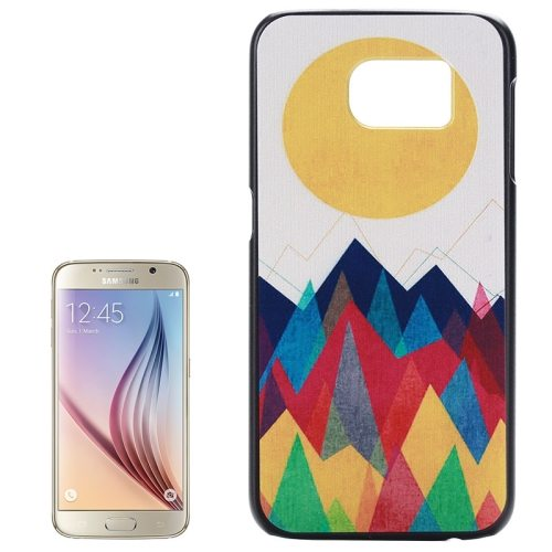PC Ultra Slim Hard Back Case Protective Cover for Samsung Galaxy S6 (Sun and Mountain)