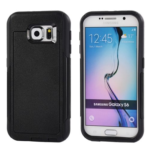 Contrast Color Design TPU and PC Hybrid Protective Case for Samsung Galaxy S6 (Black)