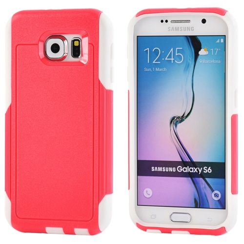 Contrast Color Design TPU and PC Hybrid Protective Case for Samsung Galaxy S6 (Red)