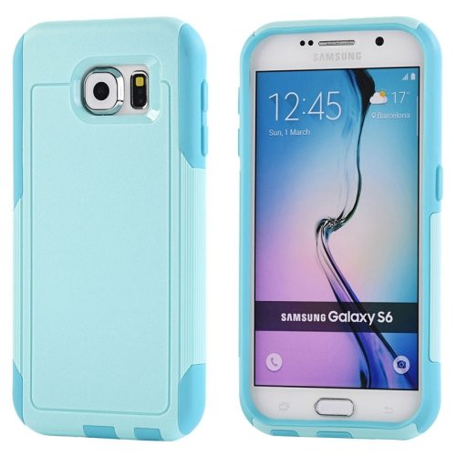 Contrast Color Design TPU and PC Hybrid Protective Case for Samsung Galaxy S6 (Baby Blue)