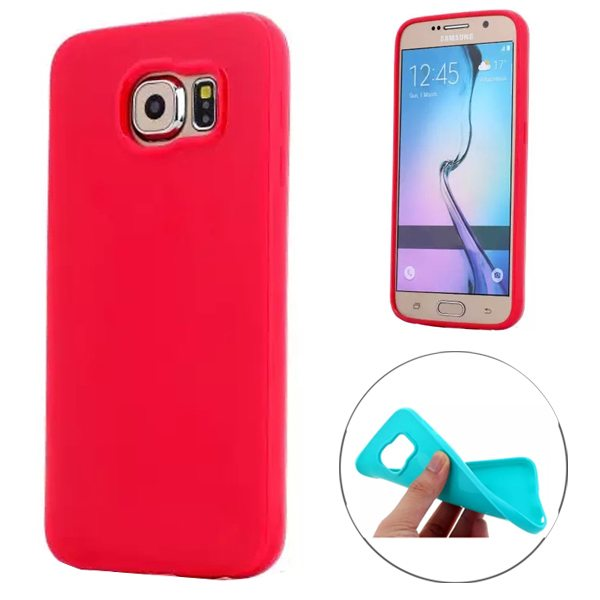 Fashion Style Solid Color Protection Soft TPU Case for Samsung Galaxy S6 (Red)