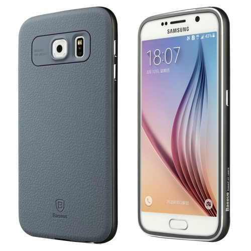 Baseus Fusion Series Metal Frame and PC Back Shell Hybrid Case for Samsung Galaxy S6 (Gray)