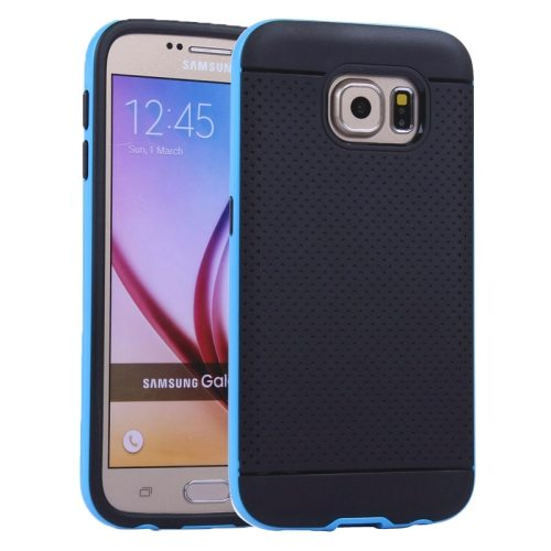 Superior Quality PC Frame Thin Protective TPU Back Cover for Samsung Galaxy S6 (Blue)