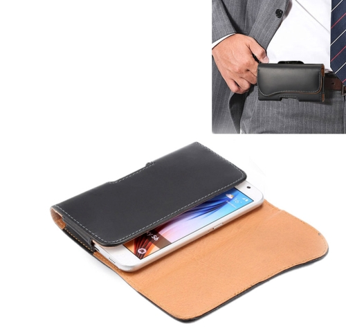 Leather Case Waist Bag for Samsung Galaxy S6 with Back Splint and Arch Design