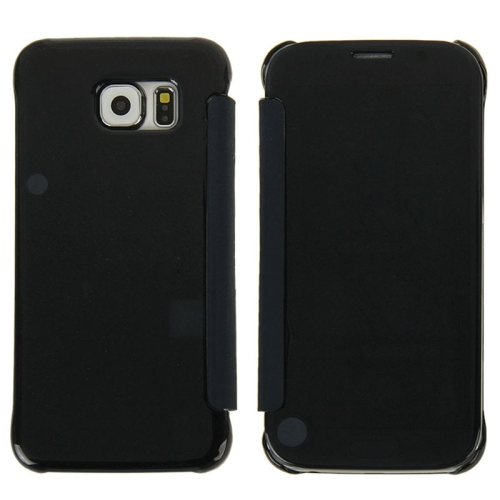 Hot Sales Smooth Surface Horizontal Flip Leather Case for Samsung Galaxy S6 (Black)