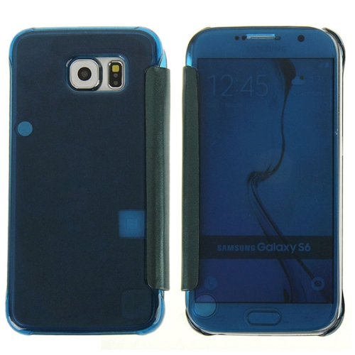 Hot Sales Smooth Surface Horizontal Flip Leather Case for Samsung Galaxy S6 (Dark Blue)
