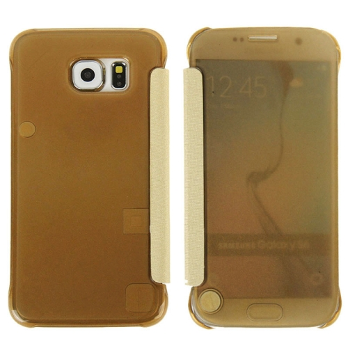Hot Sales Smooth Surface Horizontal Flip Leather Case for Samsung Galaxy S6 (Brown)