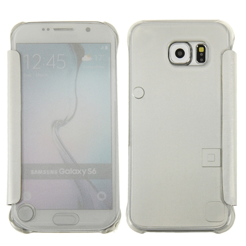 Hot Sales Smooth Surface Horizontal Flip Leather Case for Samsung Galaxy S6 (White)