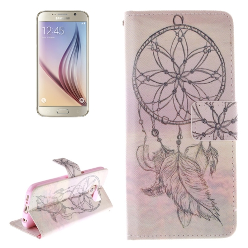 Dreamcatcher Windbell Pattern Leather Case for Samsung Galaxy S6 with Holder & Card Slot