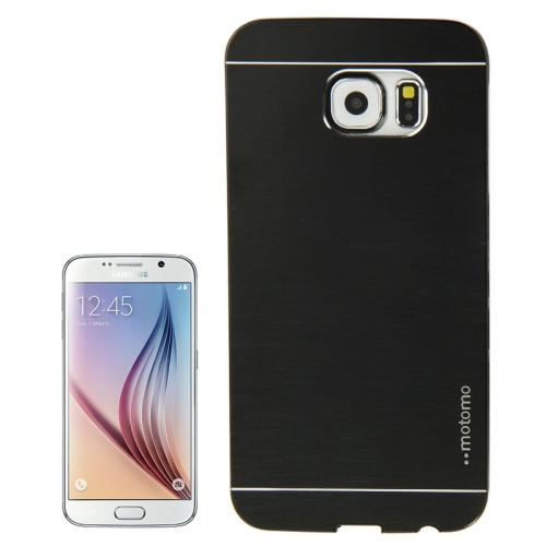 Brushed Texture Protective Hard Plastic Case for Samsung Galaxy S6 (Black)