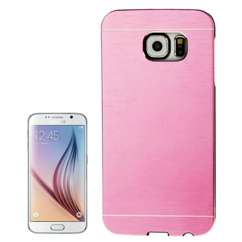 Brushed Texture Protective Hard Plastic Case for Samsung Galaxy S6 (Pink)