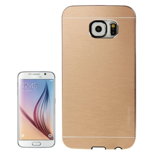 Brushed Texture Protective Hard Plastic Case for Samsung Galaxy S6 (Gold)
