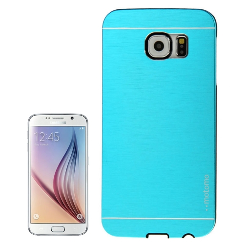 Brushed Texture Protective Hard Plastic Case for Samsung Galaxy S6 (Blue)