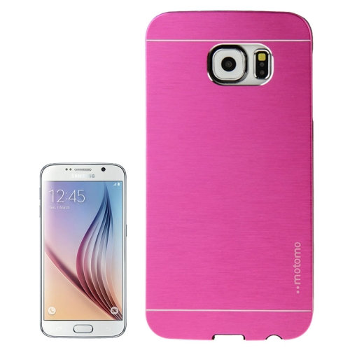Brushed Texture Protective Hard Plastic Case for Samsung Galaxy S6 (Rose)