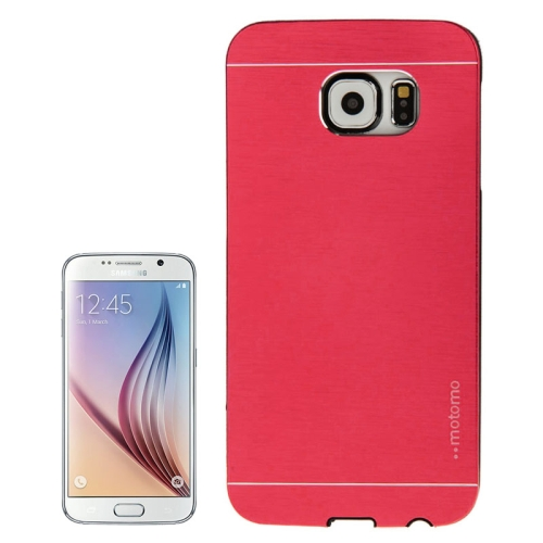 Brushed Texture Protective Hard Plastic Case for Samsung Galaxy S6 (Red)