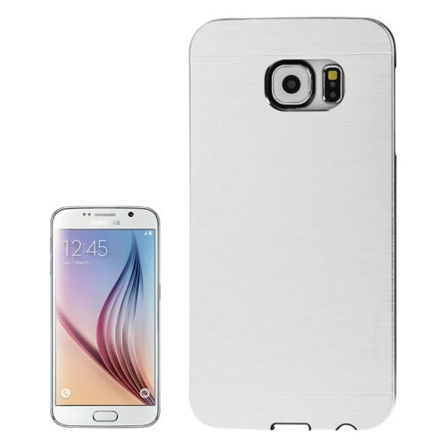 Brushed Texture Protective Hard Plastic Case for Samsung Galaxy S6 (White)