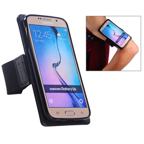 2 in 1 Pattern Detachable Magnet Sports Armband Case for Samsung Galaxy S6