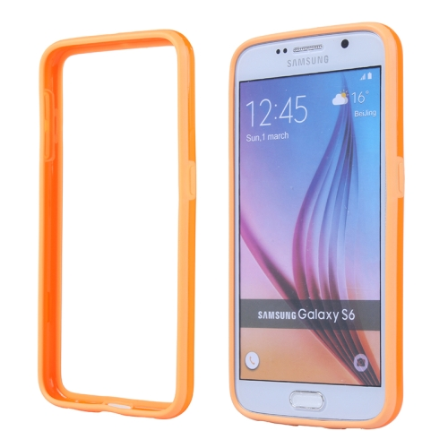 Colored Bumper Frame Soft Protective TPU Case for Samsung Galaxy S6 (Orange)