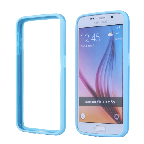 Colored Bumper Frame Soft Protective TPU Case for Samsung Galaxy S6 (Blue)