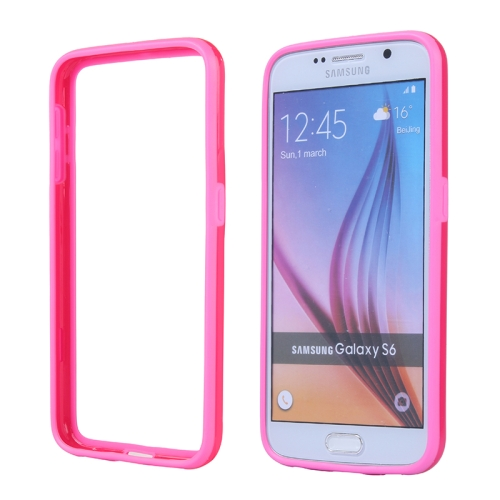 Colored Bumper Frame Soft Protective TPU Case for Samsung Galaxy S6 (Rose)