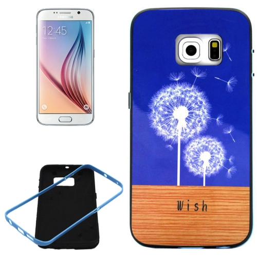 PC Frame and Synthetic Rubber Back Hybrid Case for Samsung Galaxy S6 Edge (Dandelion Pattern)