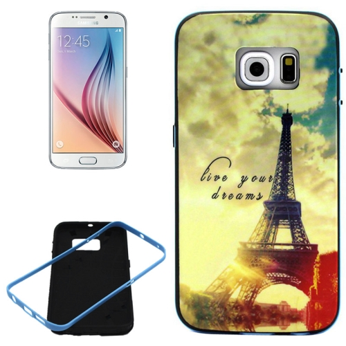 PC Frame and Synthetic Rubber Back Hybrid Case for Samsung Galaxy S6 Edge (Tower Pattern)