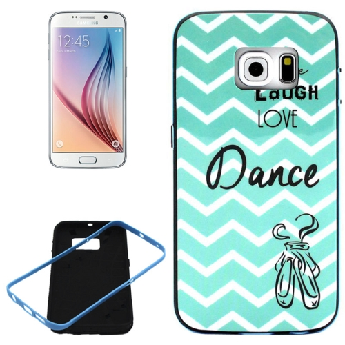 PC Frame and Synthetic Rubber Back Hybrid Case for Samsung Galaxy S6 Edge (Dance Pattern)