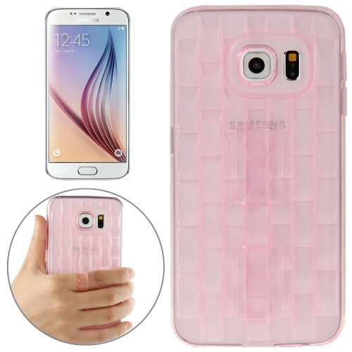 New Ice Sculptures TPU Protective Case Cover for Samsung Galaxy S6 / G920 with Handle (Pink)