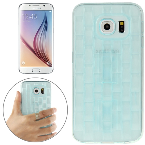New Ice Sculptures TPU Protective Case Cover for Samsung Galaxy S6 / G920 with Handle (Green)