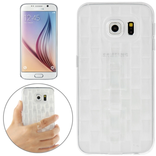 New Ice Sculptures TPU Protective Case Cover for Samsung Galaxy S6 / G920 with Handle (White)