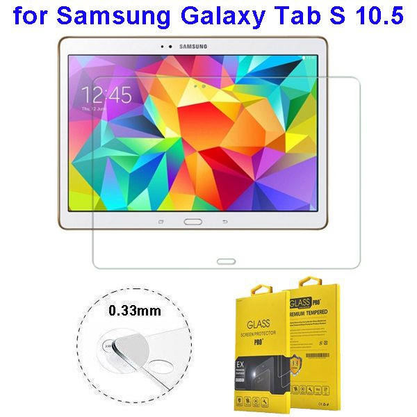 Best Selling 0.33mm Tempered Glass Screen Film for Samsung Galaxy Tab S 10.5