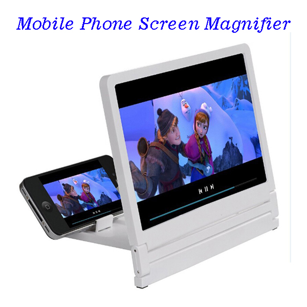 8.2 Inch Plastic Screen Magnifier Bracket Enlarge Stand for iPhone for Samsung for Smart Phones (White)