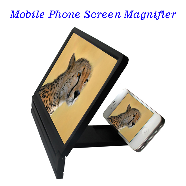 8.2 Inch Plastic Screen Magnifier Bracket Enlarge Stand for iPhone for Samsung for Smart Phones (Black)