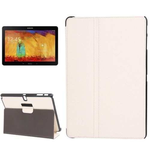 Denim Texture 2 Folding Leather Case for Samsung Galaxy Note 10.1 with Holder (White)