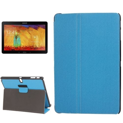 Denim Texture 2 Folding Leather Case for Samsung Galaxy Note 10.1 with Holder (Blue)