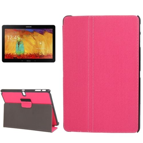 Denim Texture 2 Folding Leather Case for Samsung Galaxy Note 10.1 with Holder (Pink)