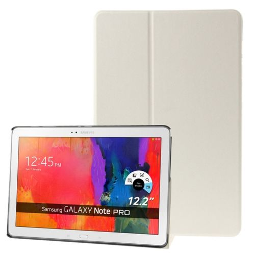 Frosted Texture Flip Leather Case for Samsung Galaxy Note & Tab Pro 12.2 / P900 / T900 with Holder (White)