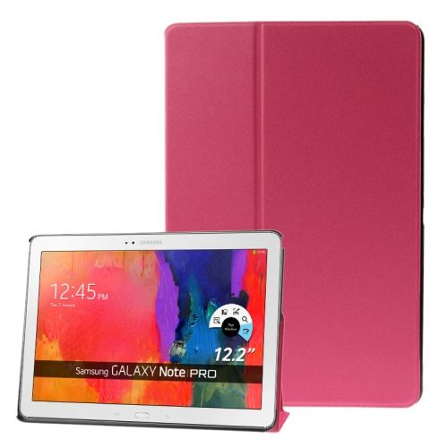 Frosted Texture Flip Leather Case for Samsung Galaxy Note & Tab Pro 12.2 / P900 / T900 with Holder (Rose)