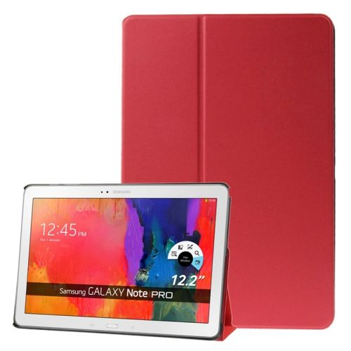 Frosted Texture Flip Leather Case for Samsung Galaxy Note & Tab Pro 12.2 / P900 / T900 with Holder (Red)